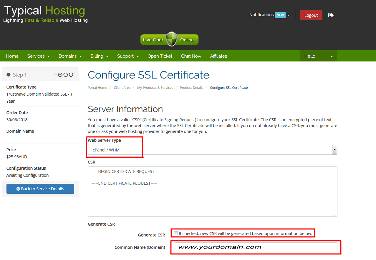 Setting Up Your Ssl Certificate Typical Hosting Blog