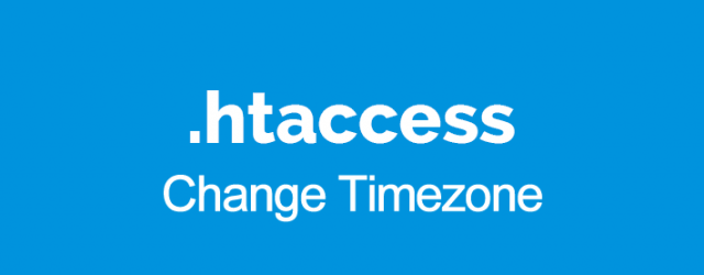 timezone htaccess